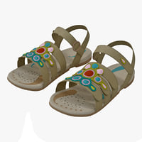 children sandal v2 3d model