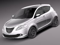 3d model chrysler ypsilon 2012