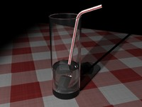 3d model cold glass water