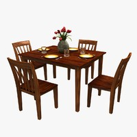traditional dinner table chairs 3d max