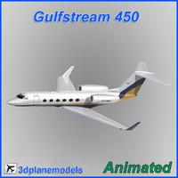 gulfstream g450 3d 3ds