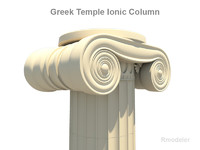 Greek ionic temple column(1)