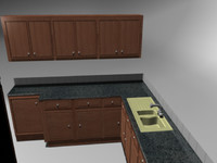 3d model of kitchen house