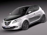lancia ypsilon 2012 3d 3ds