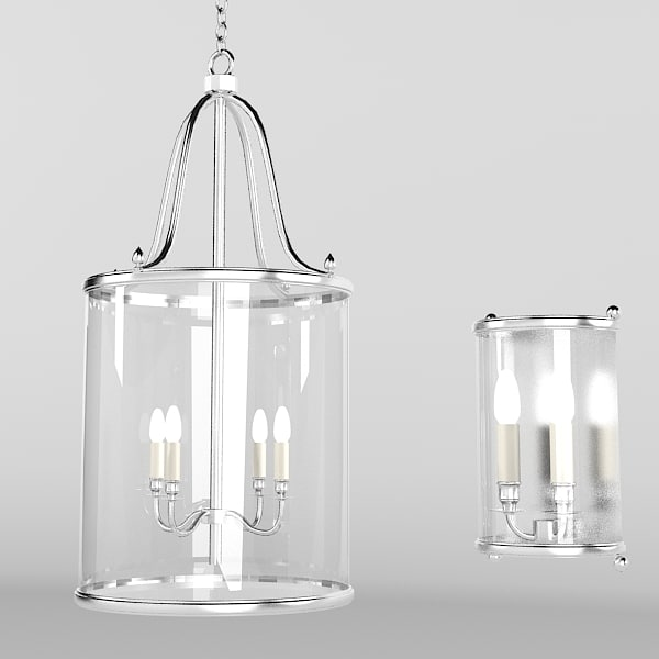 Lantern pendant chandelier & wall lamp traditional glass hall koridor light suspension chain 0001.jpg