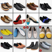 3d men shoes v10