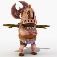 3d armored monster model