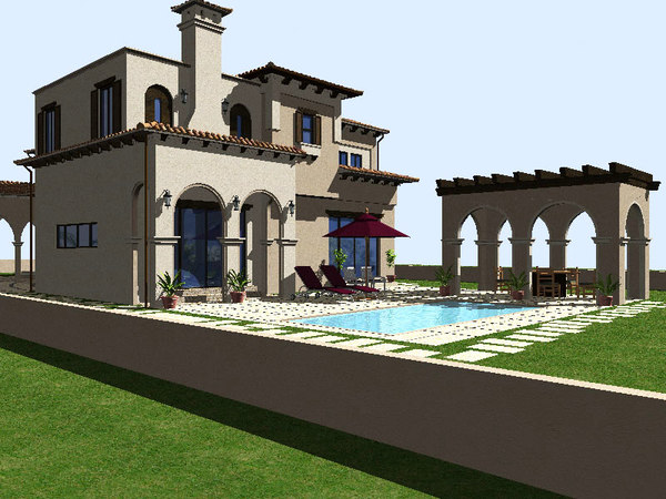 3d house mediterranean model - Mediterrane mobel ...