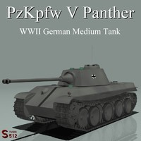 v panther tank 3d lwo