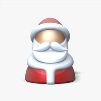 santa claus toy figure 3d max