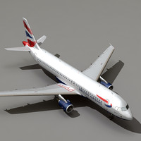 airbus a320 british airways 3ds