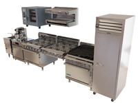 commercial kitche technics pack 3d model
