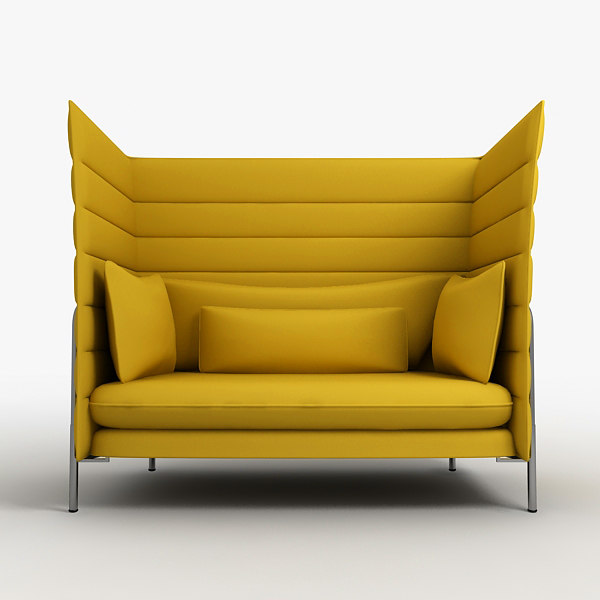 3ds max vitra alcove chair. Black Bedroom Furniture Sets. Home Design Ideas