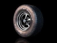 3d muscle car wheel model