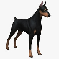 obj doberman pinscher dog