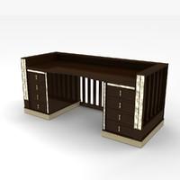 3d art nouveau desk model