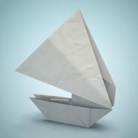 maya boat origami
