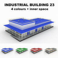 3d model medium industrial building 23