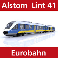 lint passenger train eurobahn 3d model