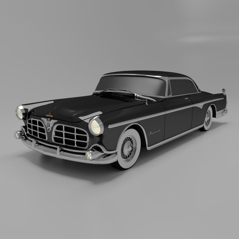 1955 Imperial Newport Luxury 3d Model