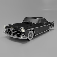 1955 imperial newport luxury 3d model