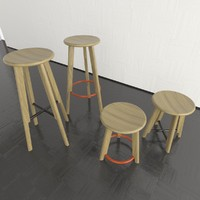 noughts crosses stools 3d model
