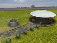 Gazebo Garden Pavilion Scene