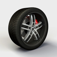 3ds max lorenzo wl026 rim tyre