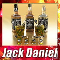jack daniels whisky glass 3d model