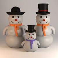 snowman family 3d 3ds
