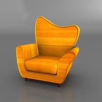 3d model of sofa rigged