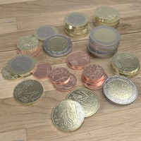 French Euro coins