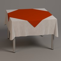 3d model square table