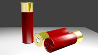 free shotgun shell 3d model