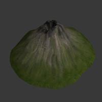 3d model volcano sleep