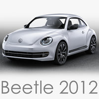 3d model volkswagen beetle 2012