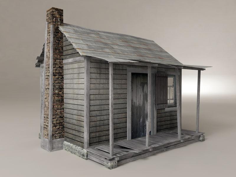 Wooden house 3d model House 3d model