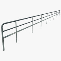 resolution curved railing 3d max