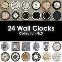24 wall clocks 3ds