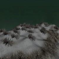free mountain terrain snow 3d model