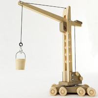 toy tower crane 3d model