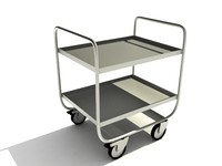 3d model metal trolley