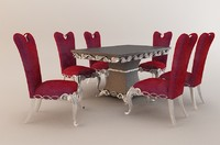 Ornate Dinning Table and Chairs 00001