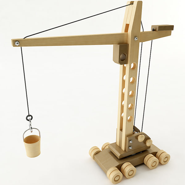 Wooden Model Crane Pictures to pin on Pinterest