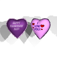heart shaped balloons 3d model
