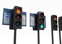 3d model traffic signal