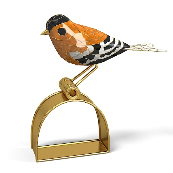 Cloissonne Bird Gold Finch Napking Ring Dransfield & Ross Table Appointments home deocr accessory designer.jpg