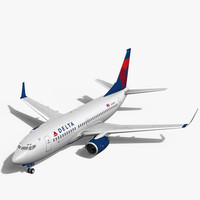3d delta airlines boeing 737-700w model