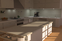 modern kitchen 3d model