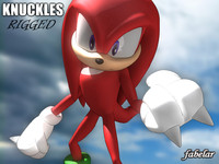 3d knuckles rigged biped model